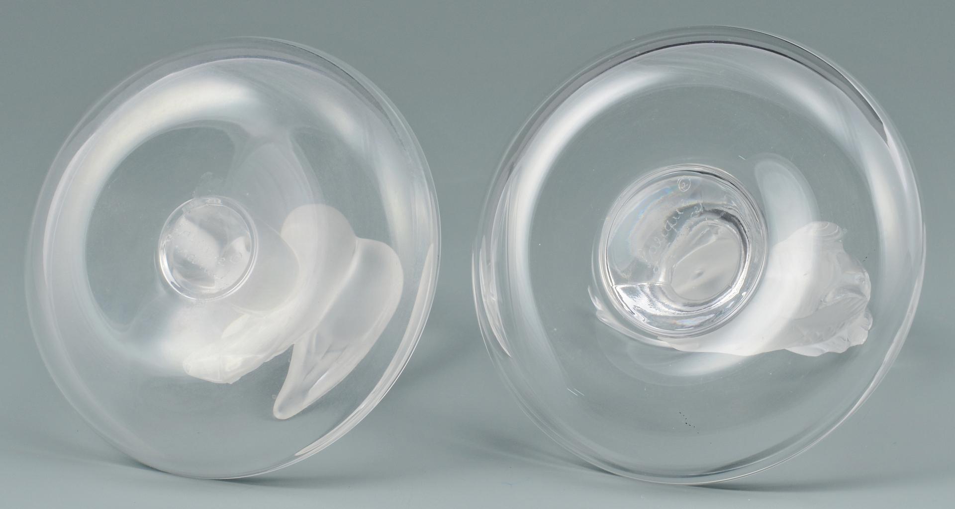 Lot 3088101: 4 Lalique Ring Holders & Tiffany Apple