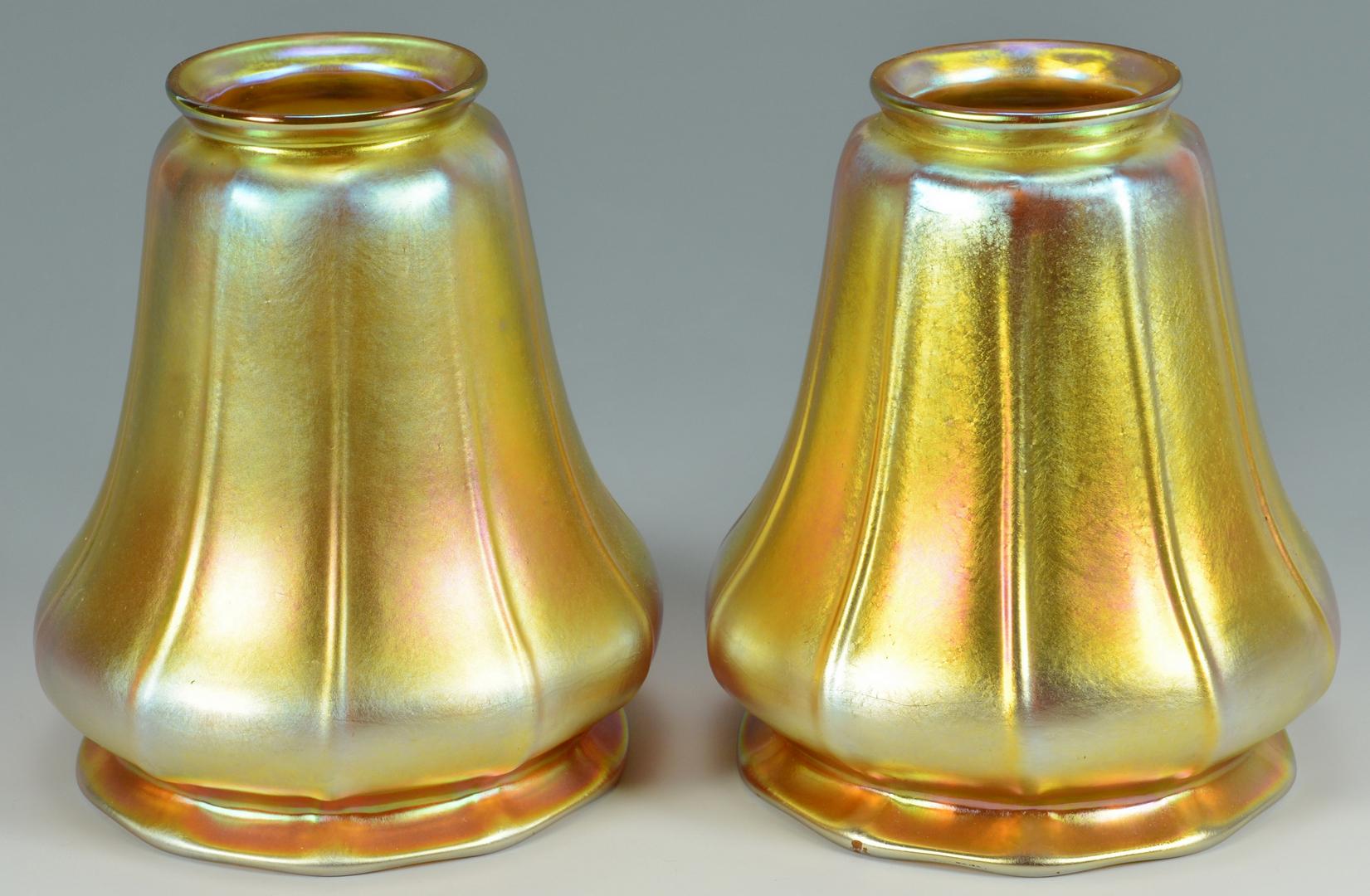 Lot 3088102: Student Lamp w/ Art Glass Shades, Steuben
