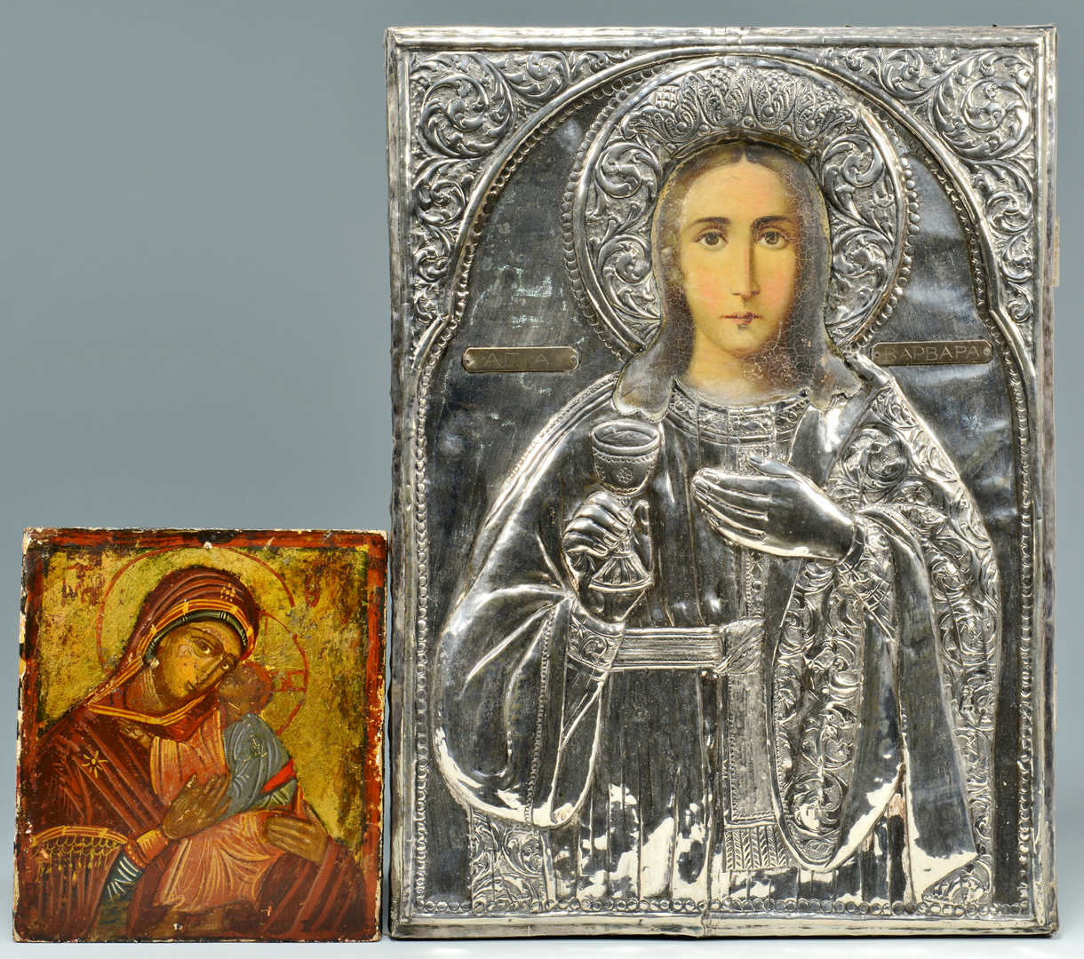 Lot 3088105: 2 Russian Eastern Orthodox Icons