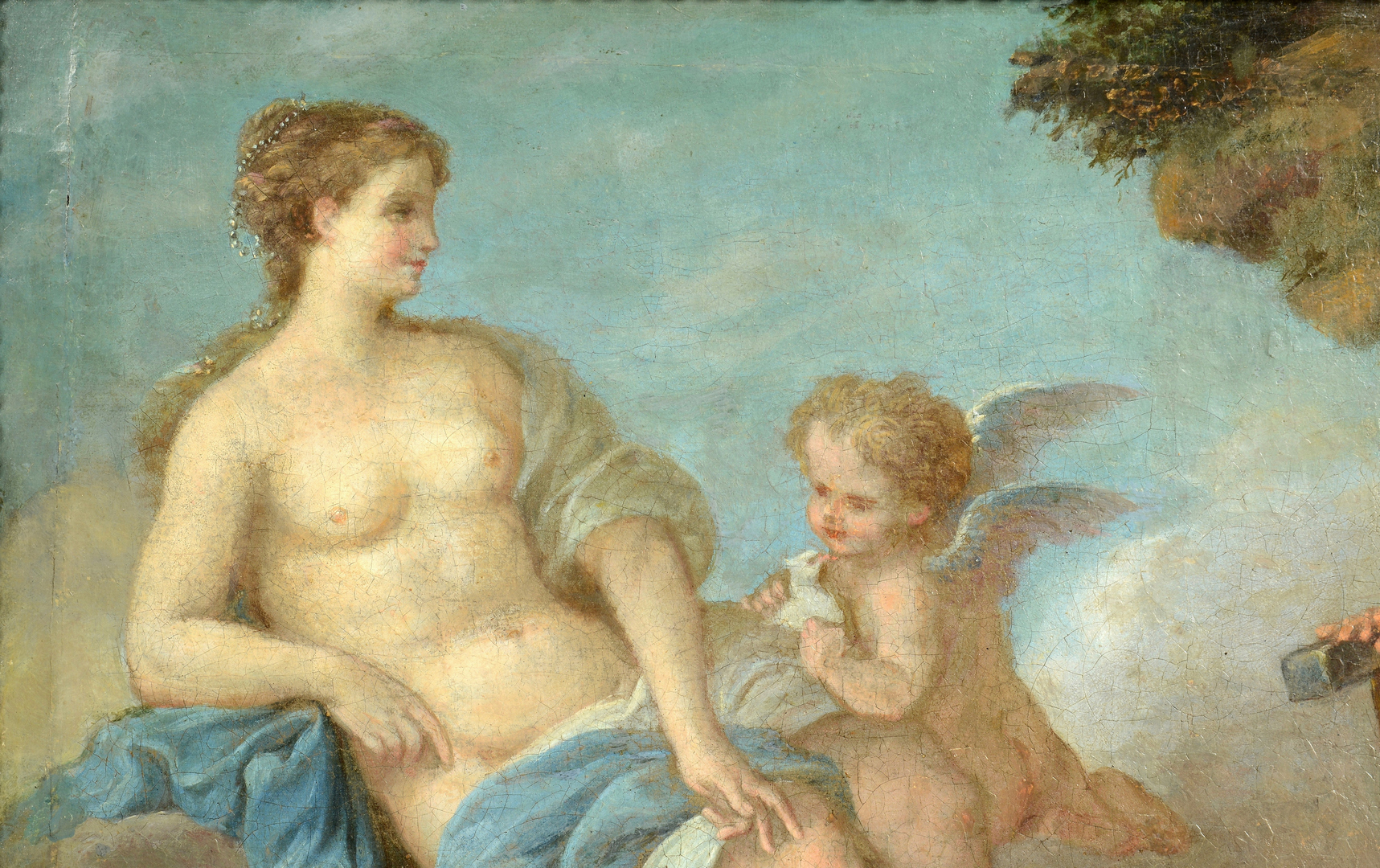 Lot 3088106: Attr. LaGrenee, Vulcan and Venus, oil on canvas