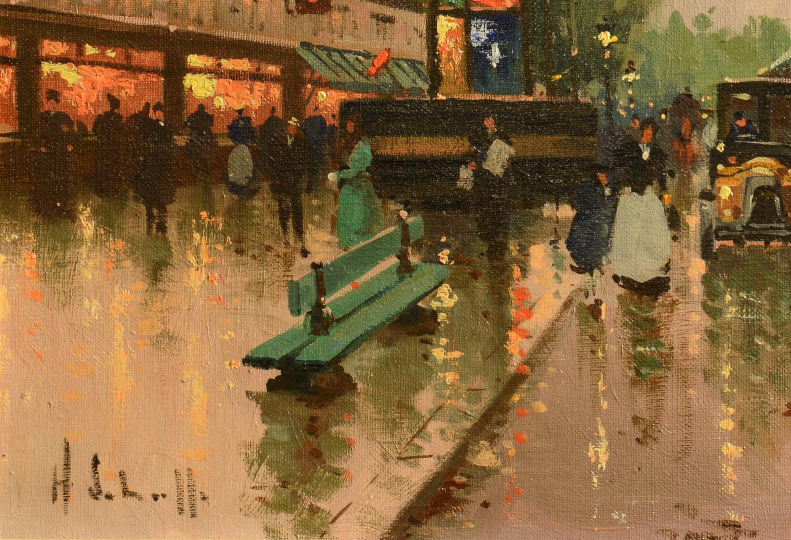 Lot 3088108: Henri Alexis Schaeffer Paris Street Scene