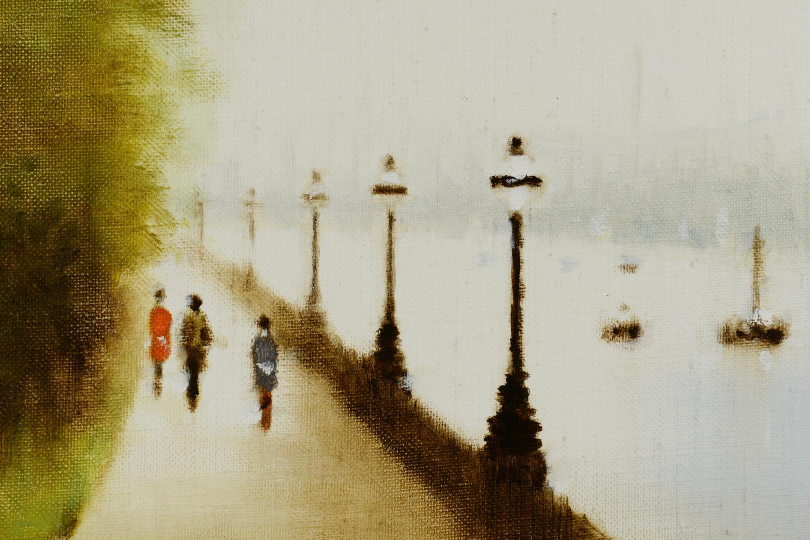 Lot 3088111: Anthony Klitz o/c, Thames Landscape