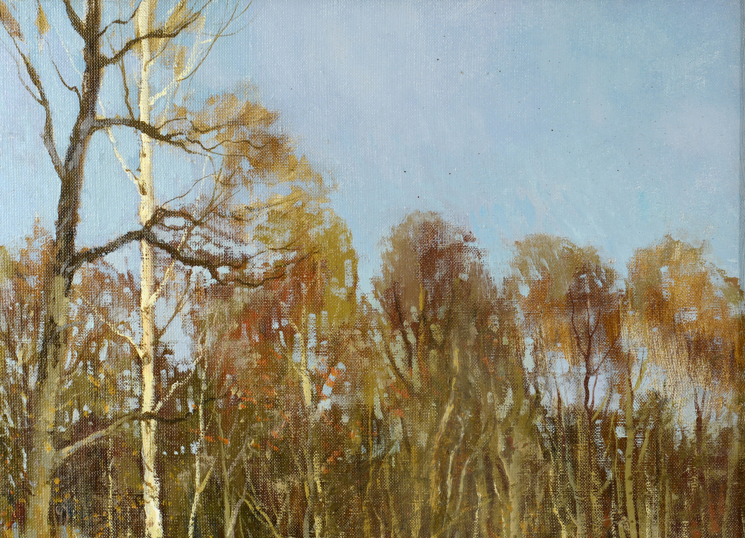 Lot 3088113: Alexander Kremer, oil on canvas, In the Forest