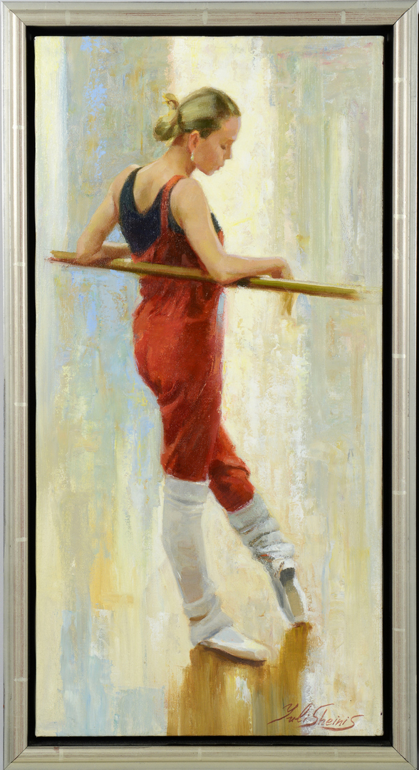 Lot 3088114: 2 Paintings of Ballerinas by Yuli Sheinis