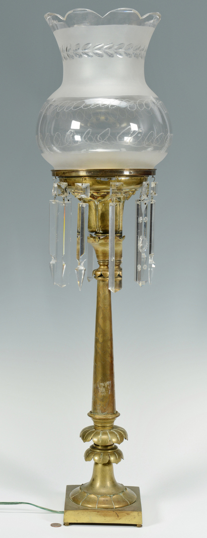 Lot 3088115: 19th c. gilt bronze solar lamp