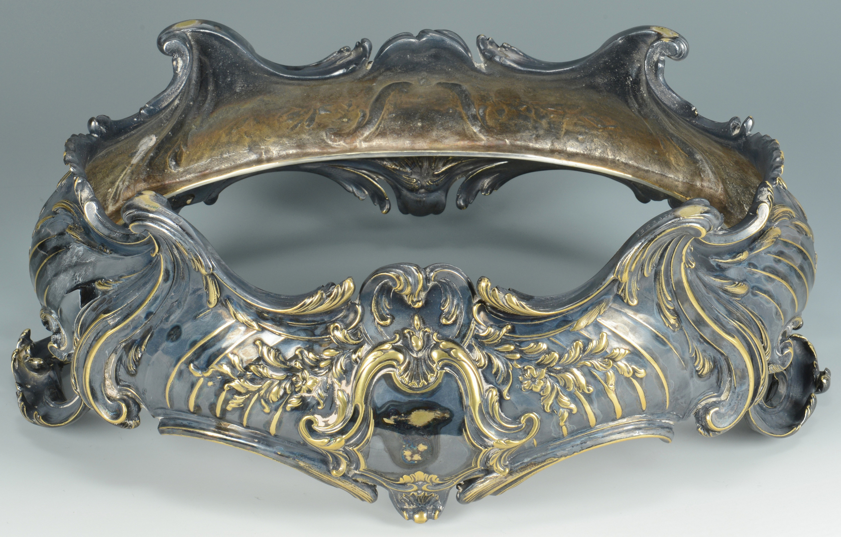 Lot 3088120: Christofle Silver-Bronze Centerpiece