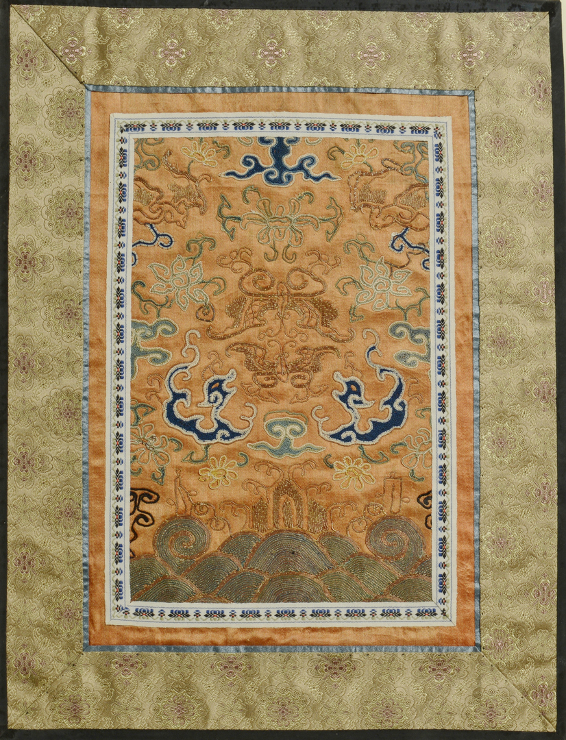 Lot 3088127: 3 Chinese Forbidden Stitch Embroideries