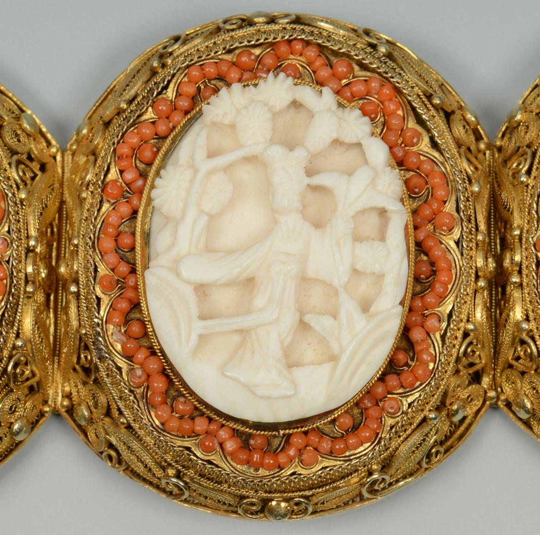 Lot 3088135: Asian Gilt-filigree Bracelet