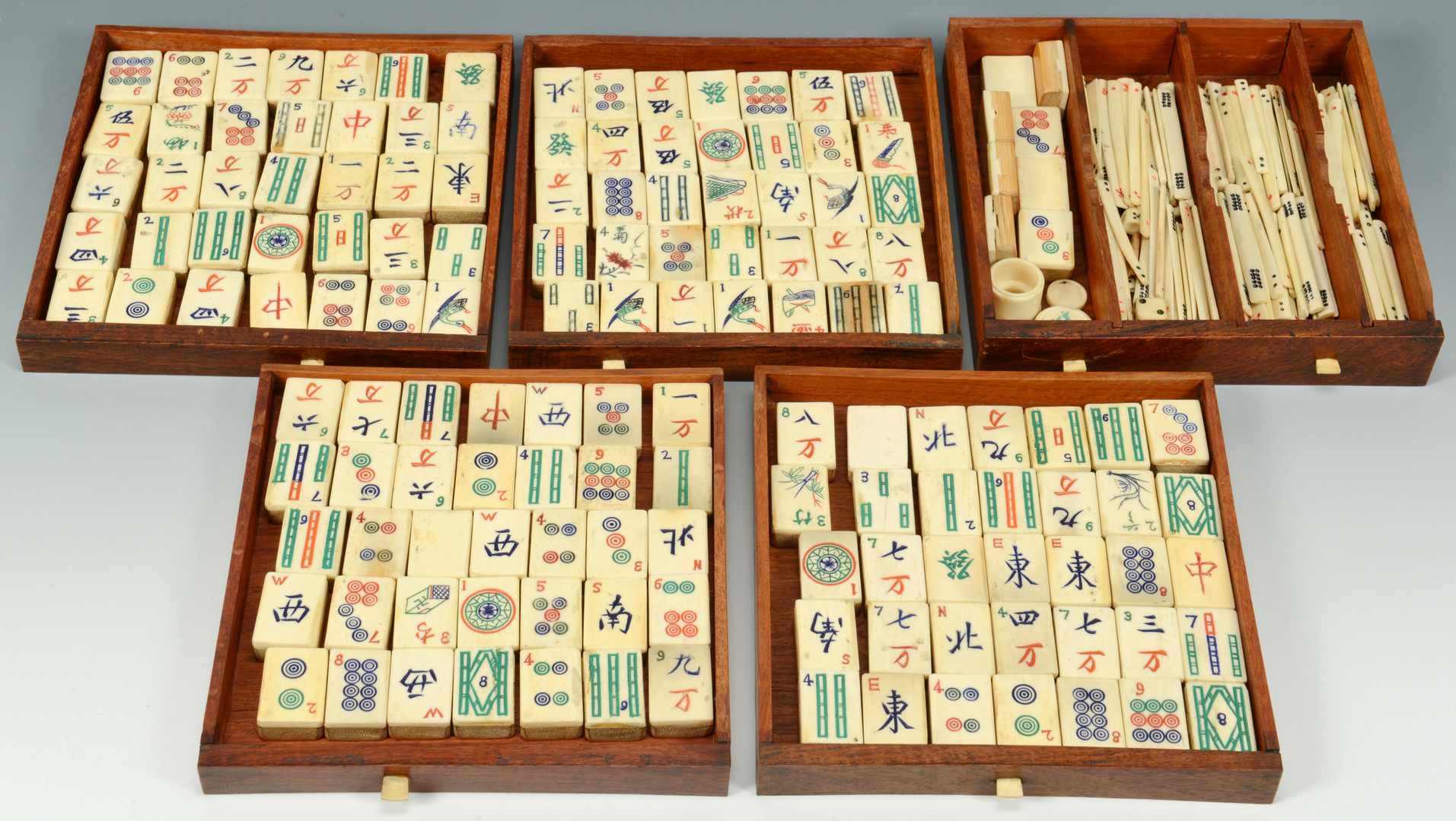 Lot 3088136: Ivory Mah Jongg Set, c. 1925