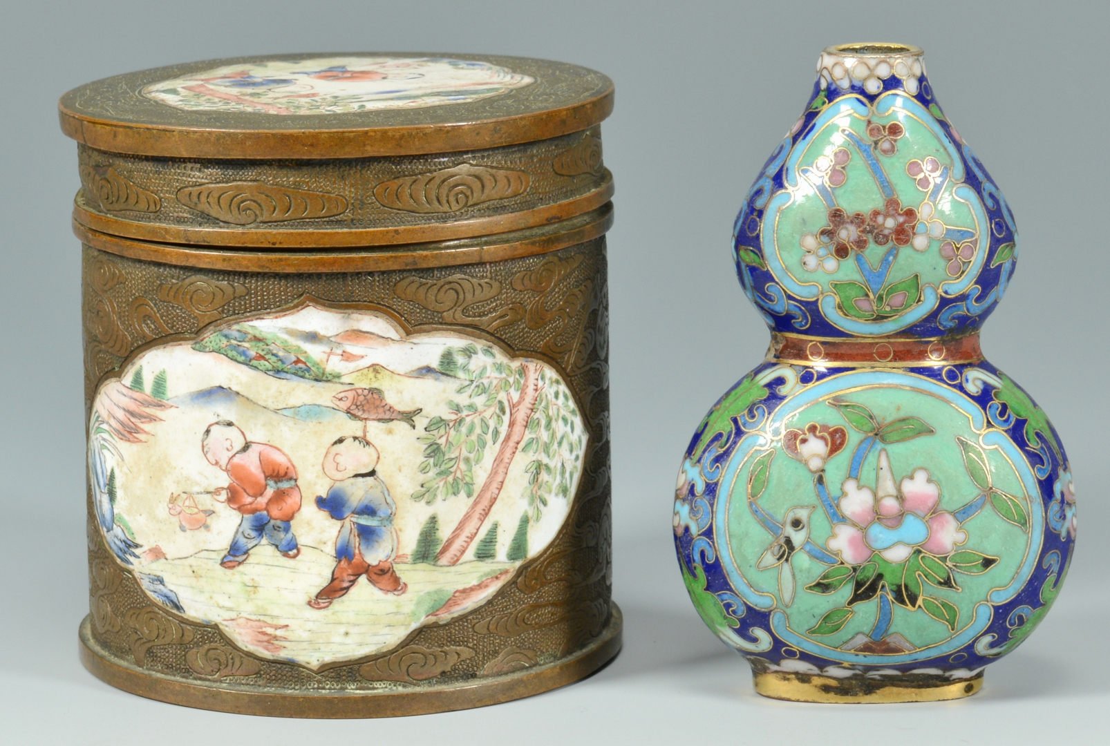 Lot 3088139: 6 Chinese Cloisonne Items