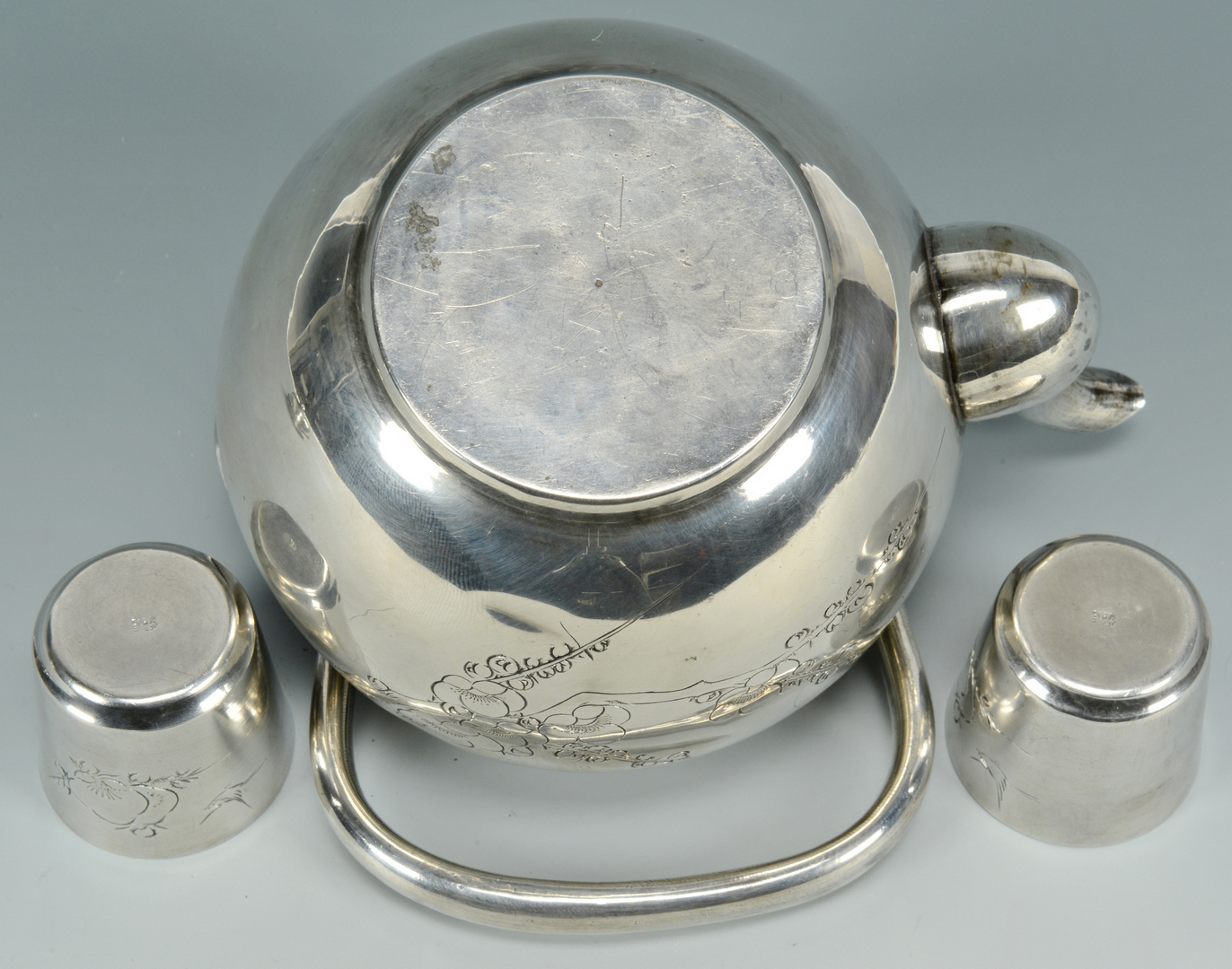 Lot 3088147: 4 pcs. Asian Silver plus Whiting beaker
