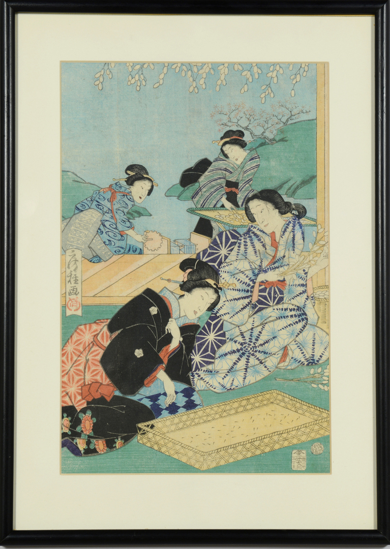 Lot 3088152: Two Japanese Woodblocks