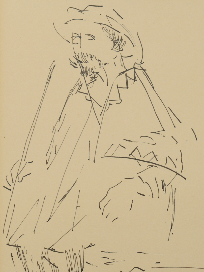Lot 3088154: Hector Xavier Ink Drawing dated 1962