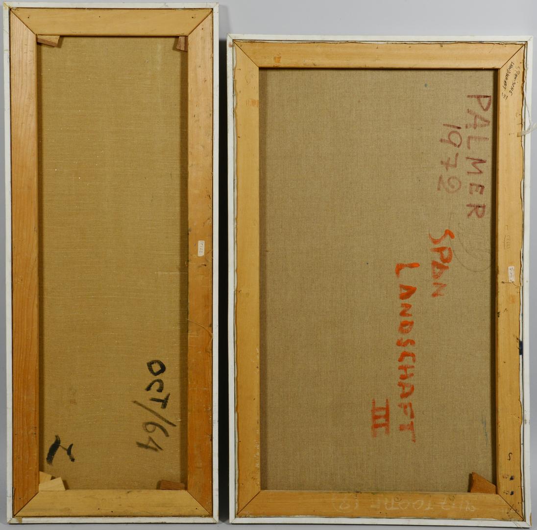 Lot 3088155: Lilli Palmer, Two Cubist Oils