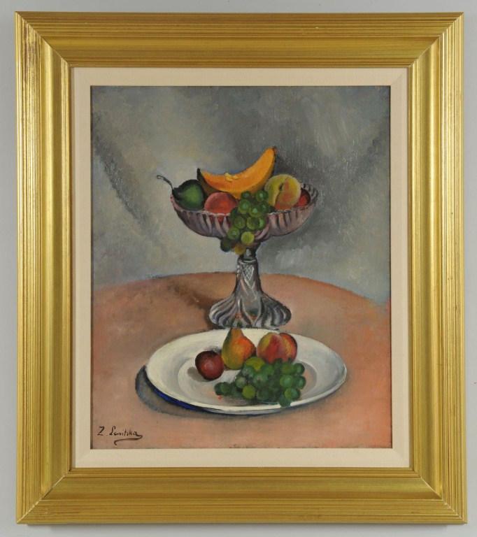 Lot 3088156: Sonia Lewitska Oil on Canvas Still Life