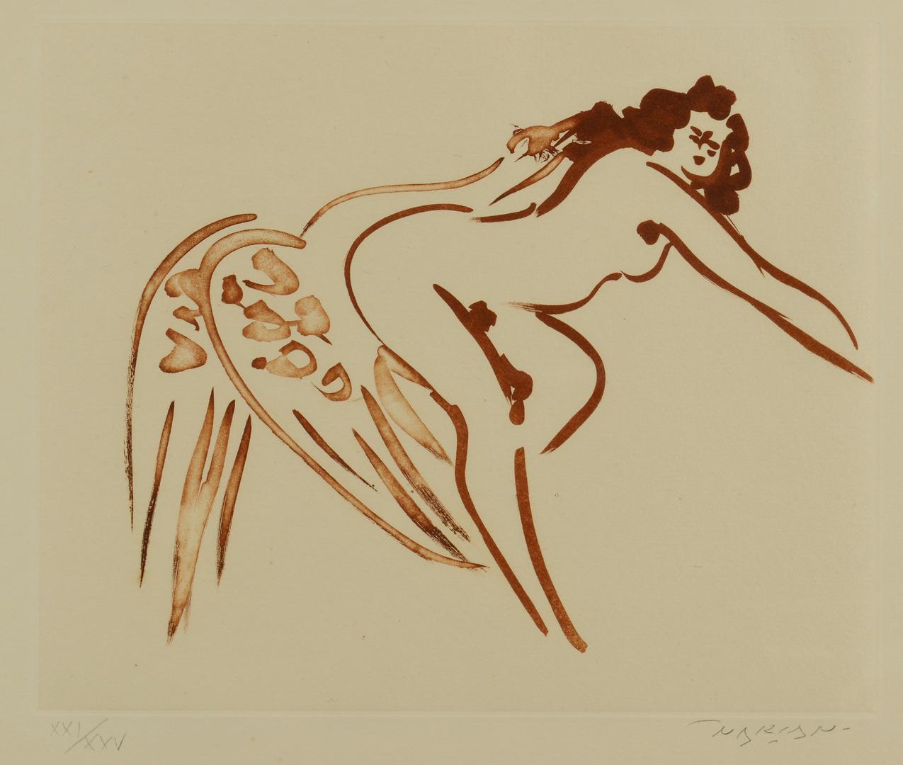 Lot 3088161: Reuben Nakian etching, Leda and Swan
