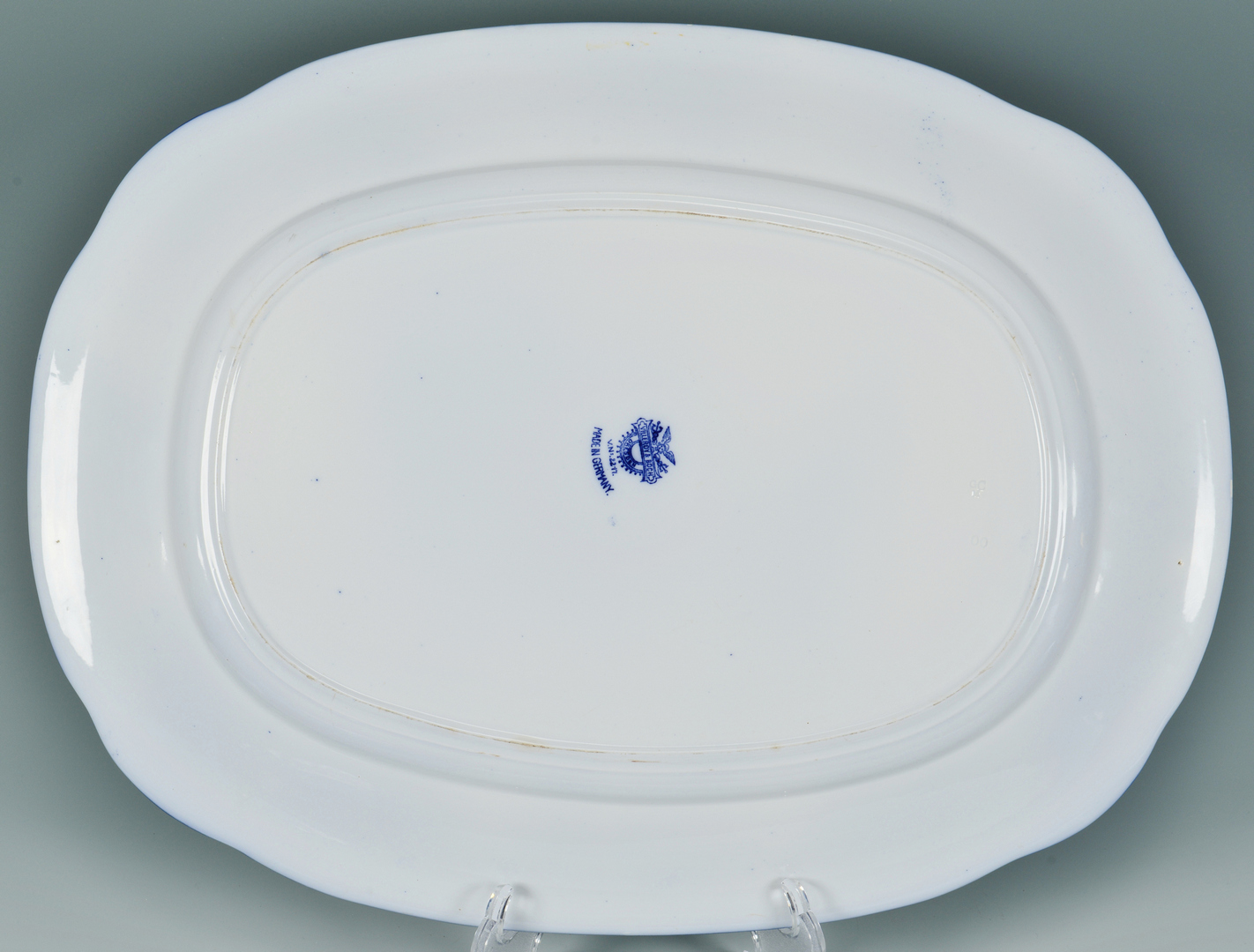 Lot 3088163: Turkey Platter with 12 plates, Flow Blue