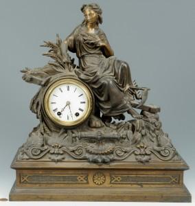 Lot 3088166: Seth Thomas Figural Mantle Clock