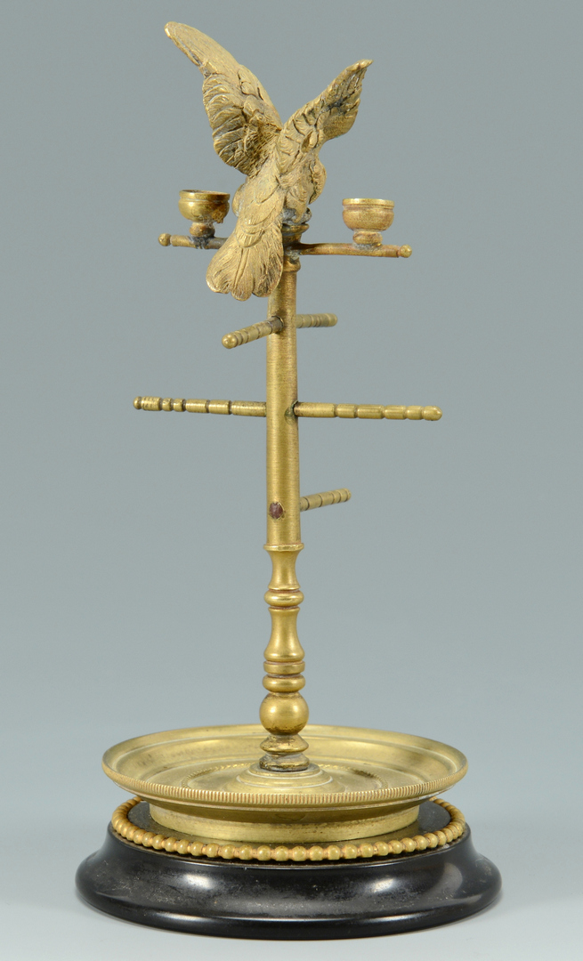 Lot 3088168: Gilt Bronze Thread Holder w/ Bird Finial