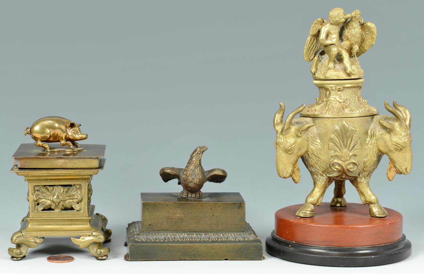 Lot 3088173: 3 Figural Inkwells