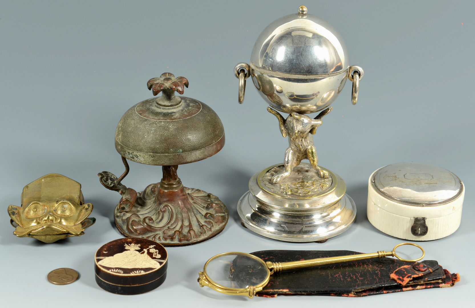 Lot 3088174: 6 Decorative Desk Items inc. Figurals