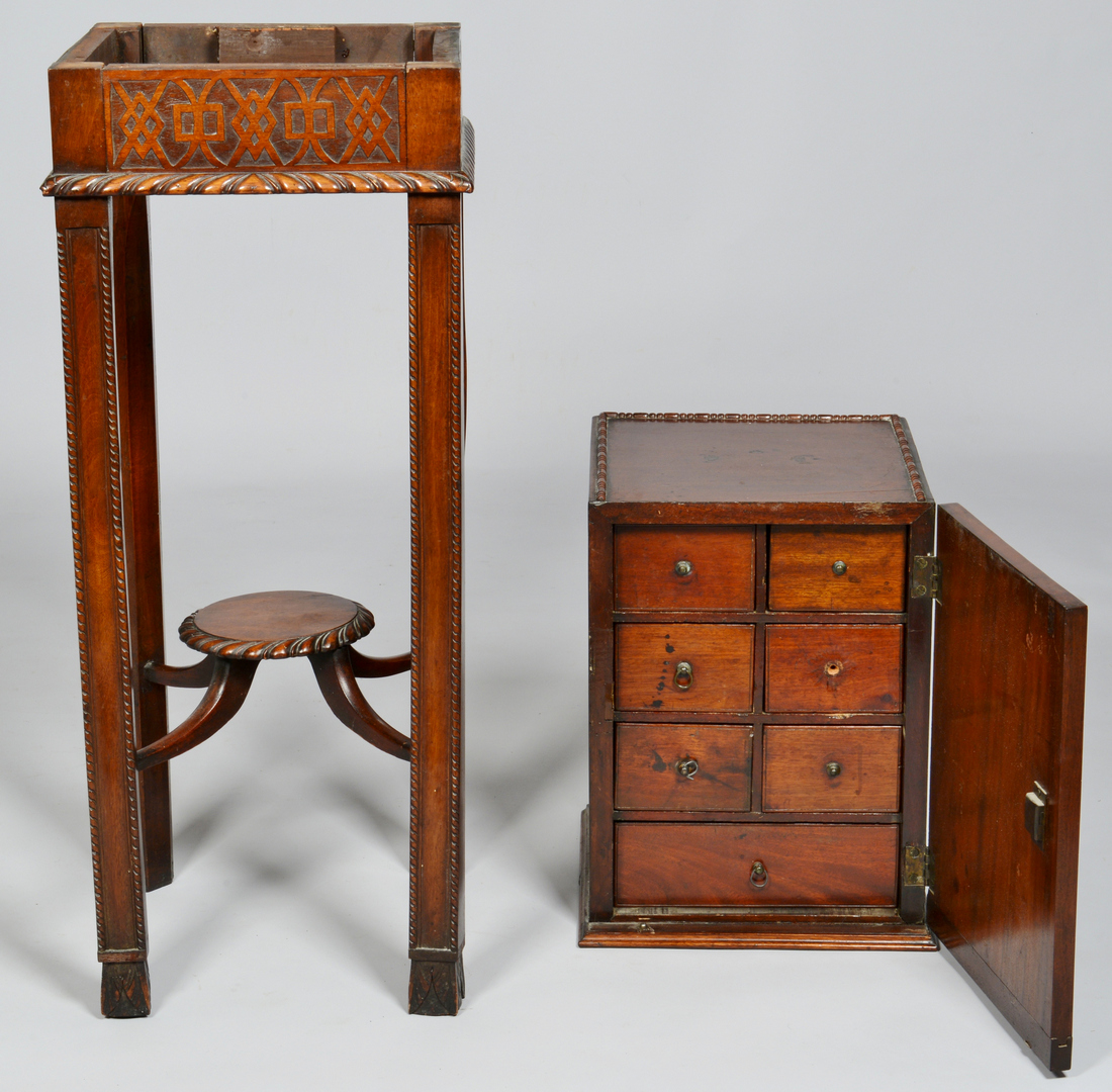 Lot 3088179: Chippendale style Cabinet on Stand