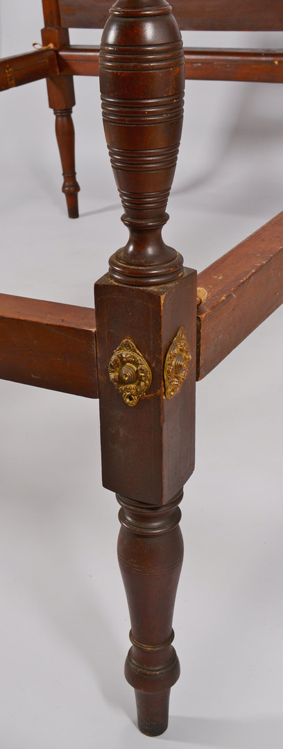 Lot 3088180: Mahogany Federal Field Bed, circa 1800