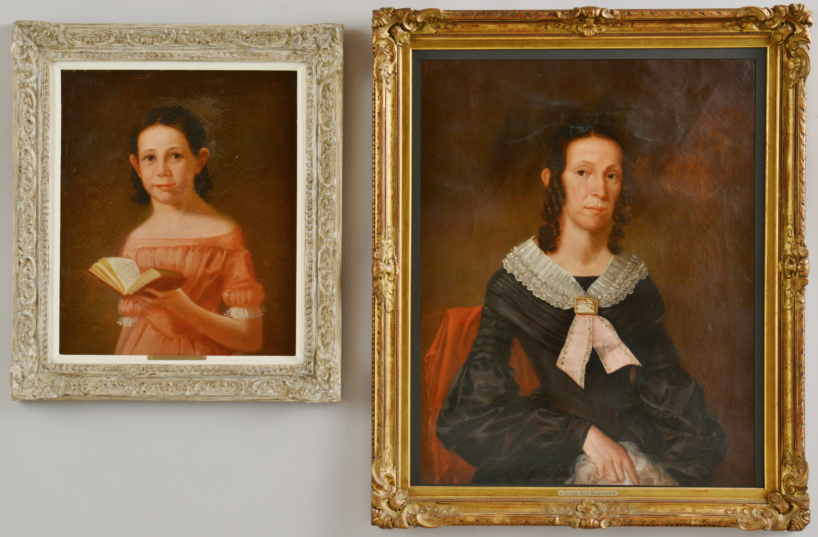 Lot 3088182: Pr. Oil on Canvas Portraits, Hungerford family