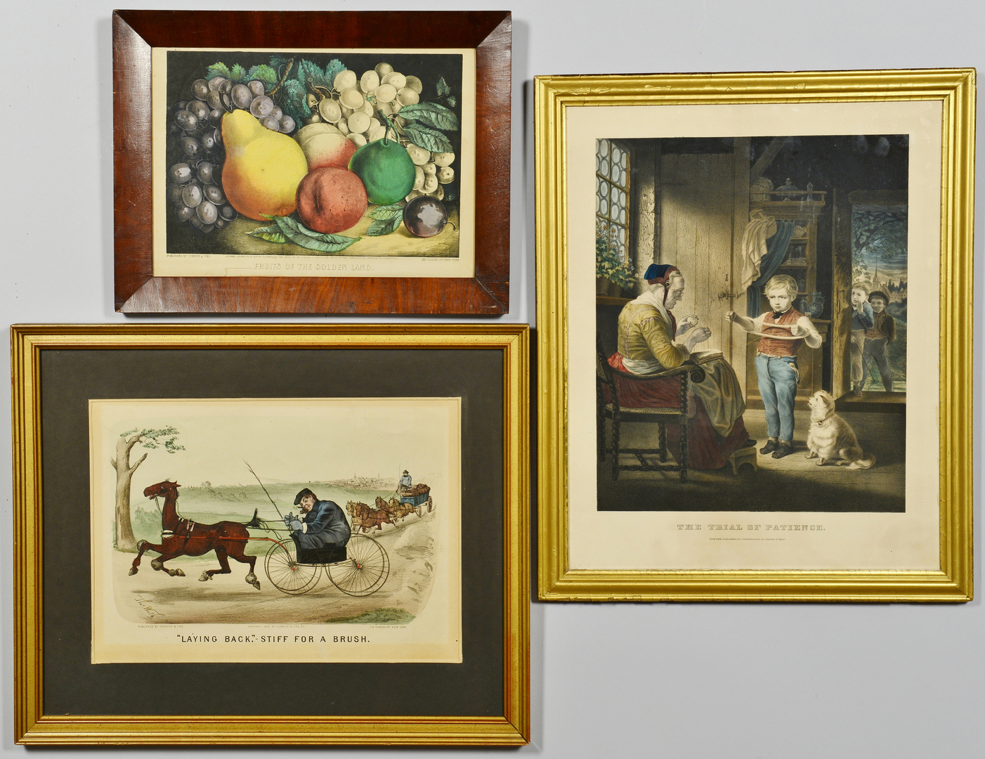 Lot 3088184: 3 Currier & Ives Lithographs