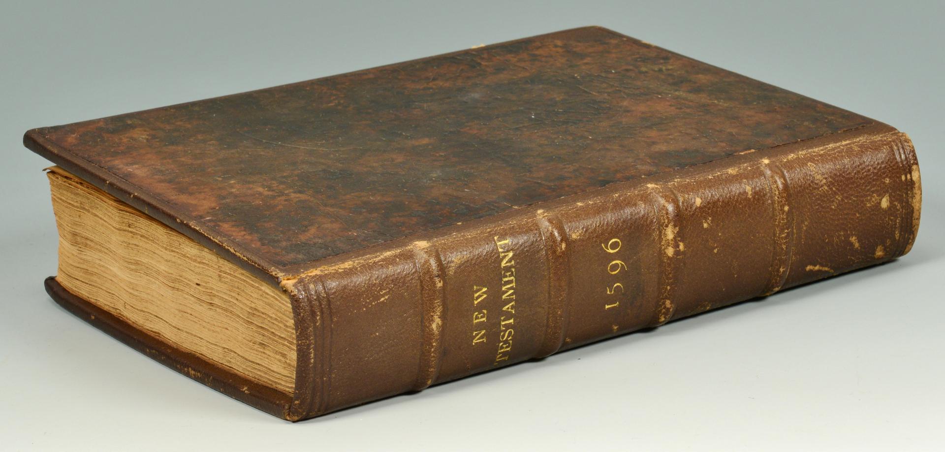 Lot 3088186: 1596 Geneva Bible New Testament, by Tomson