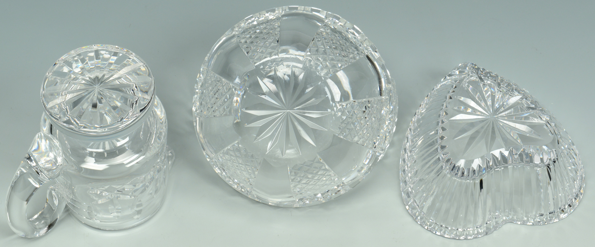 Lot 3088188: Grouping of Waterford Cut Crystal Table Items