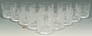 """Lot 3088191: 15 Waterford Lismore """"Old Fashioned"""" Glasses"""