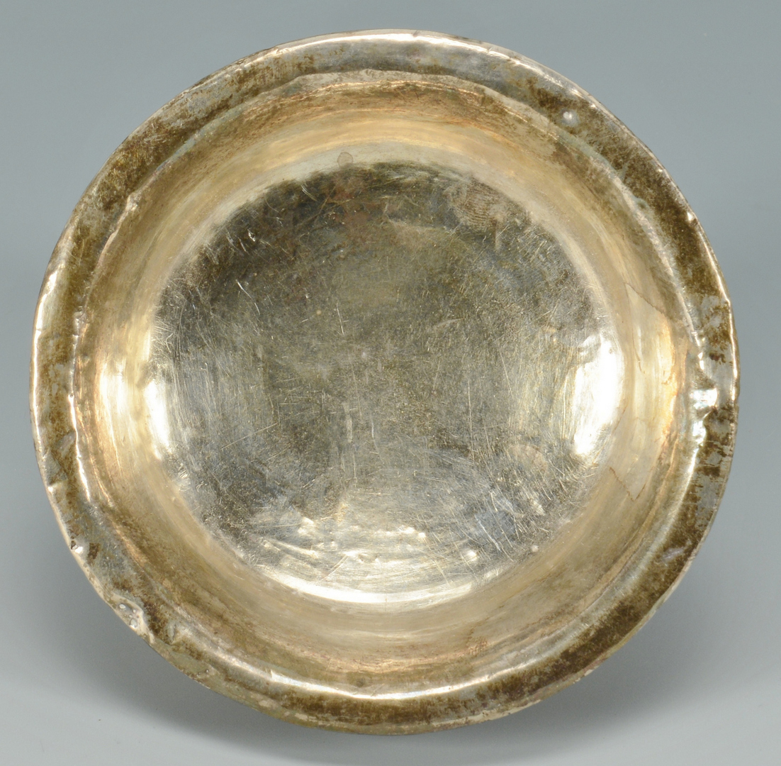 Lot 3088193: Silver mounted burled Mazer Bowl