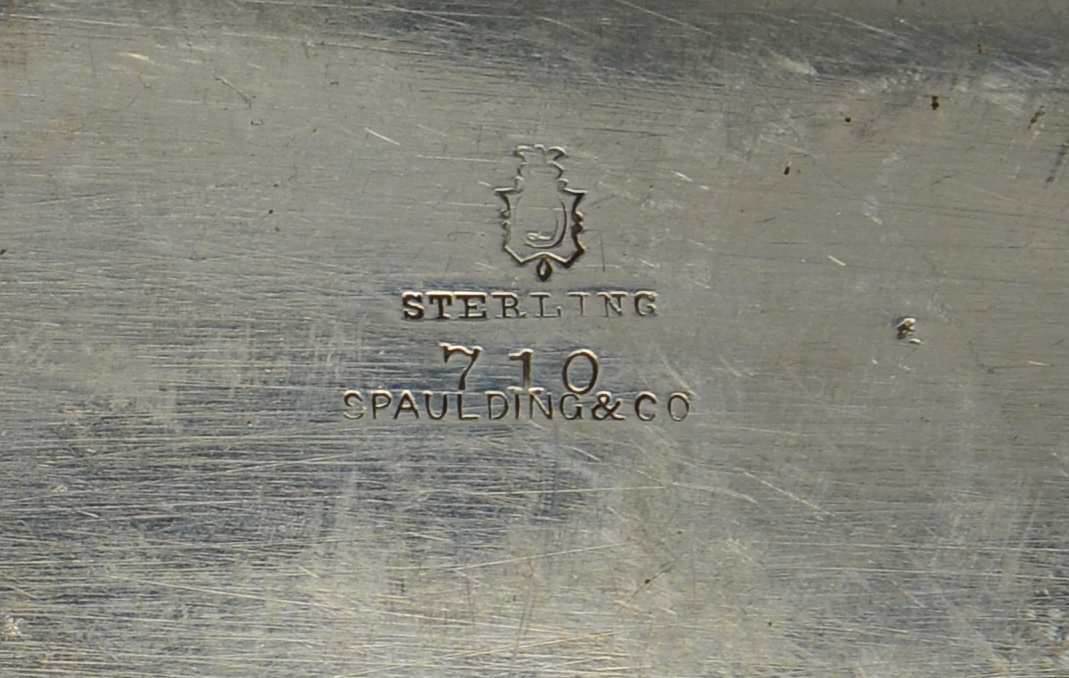 Lot 3088200: Sterling Bread Tray and Cocktail Forks