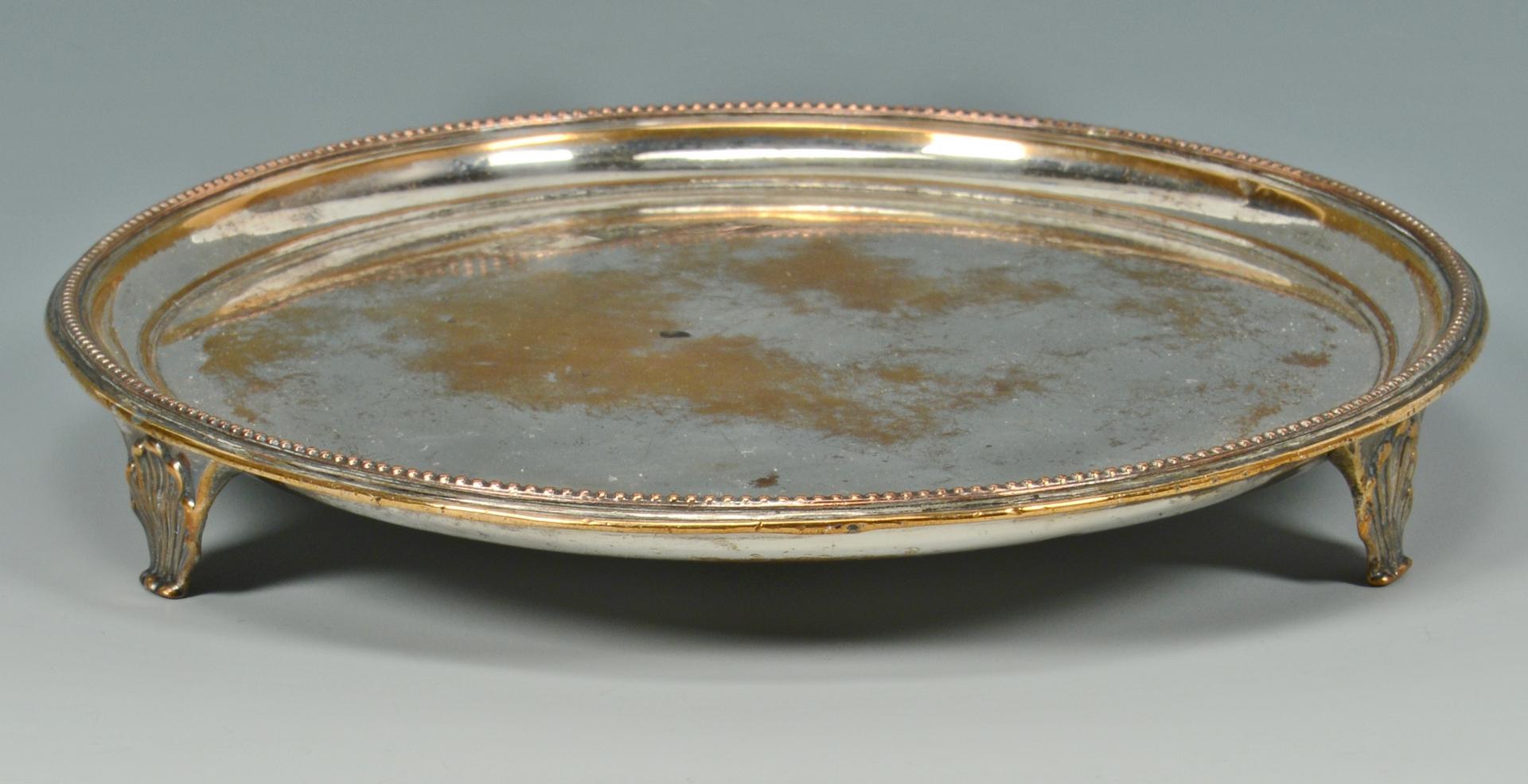 Lot 3088212: Banquet Candelabra, Egg Cruet and Salver