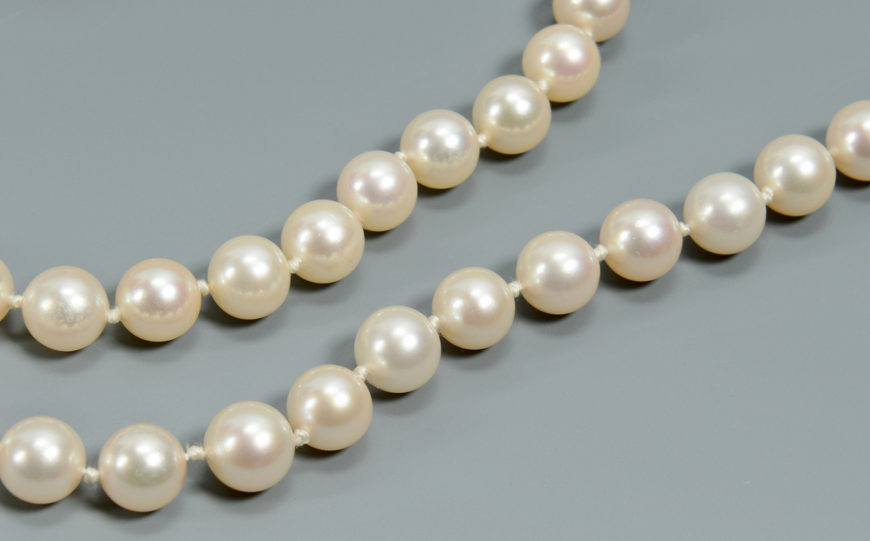 Lot 3088213: Long 8mm Cultured Pearl Necklace, 38""