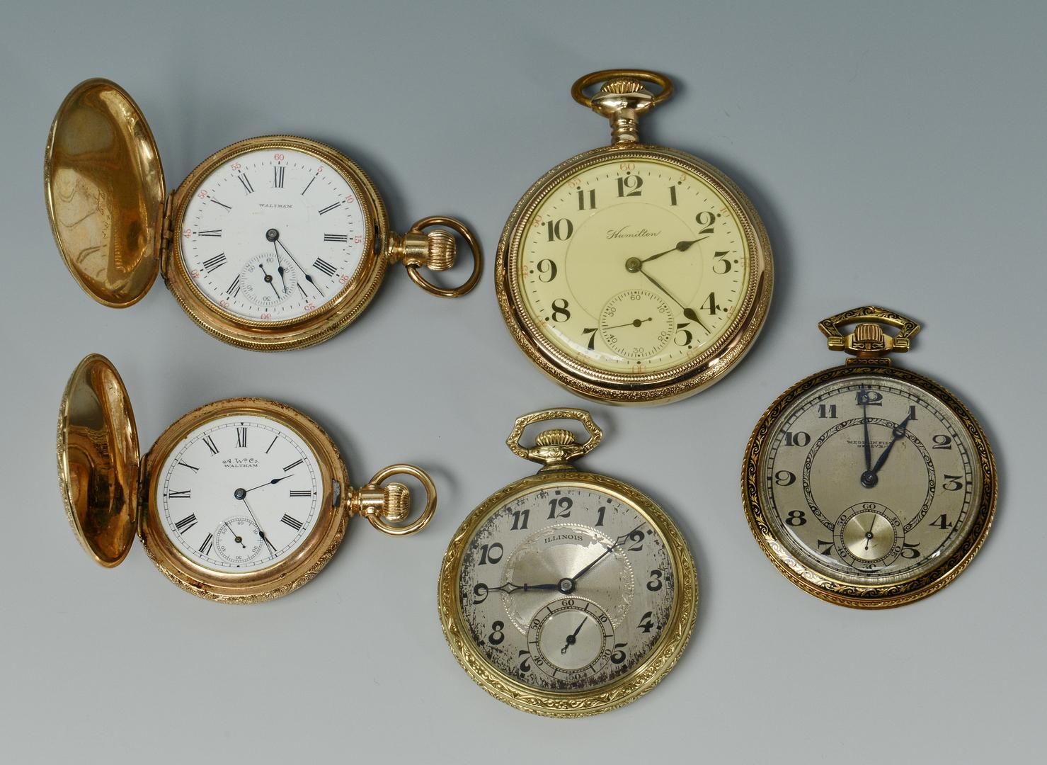 Lot 3088227: 5 Pocket Watches incl 18k Wegelin Fils