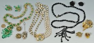 Lot 3088235: 9 pcs costume jewelry inc. Miriam Haskell