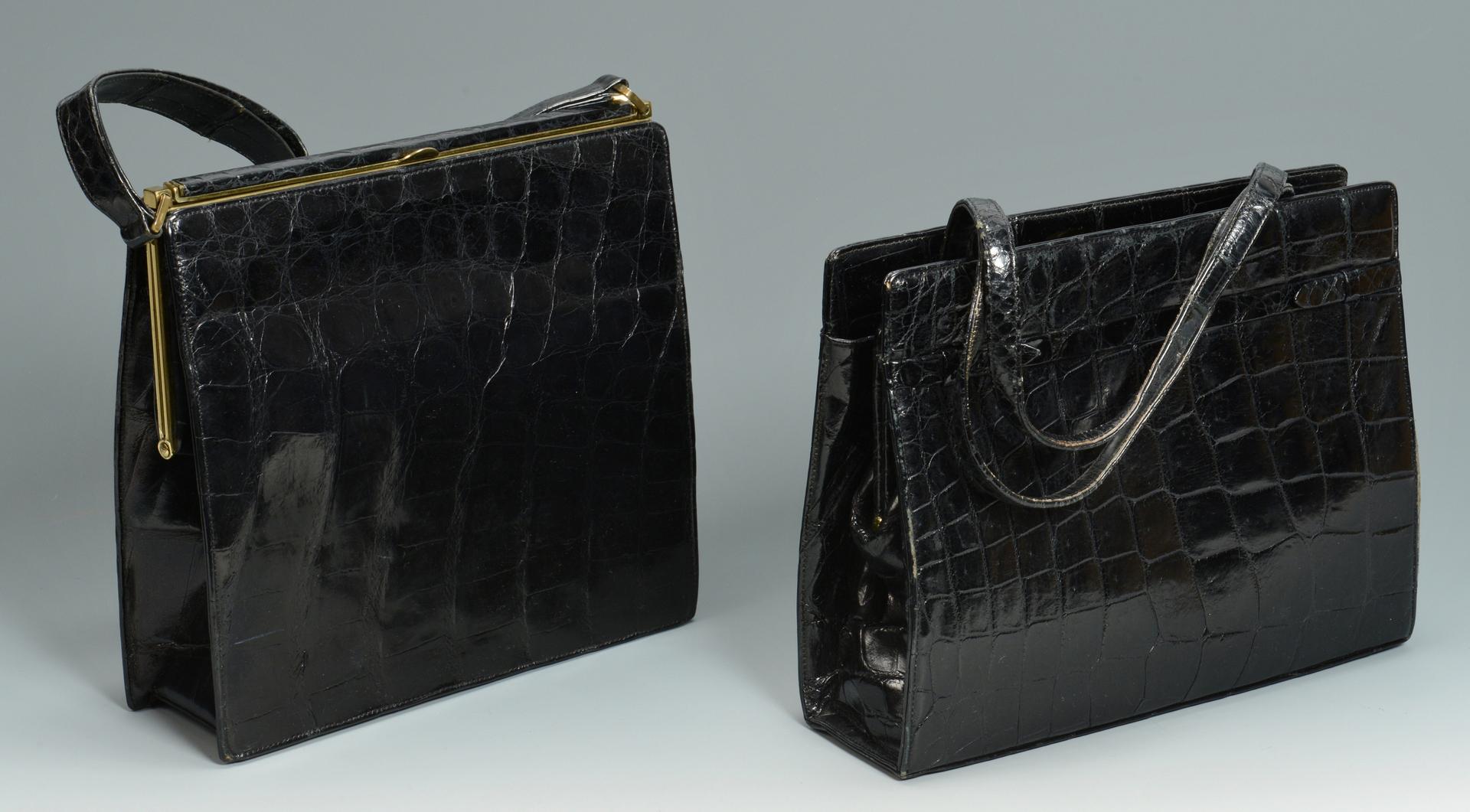 Lot 3088237: 3 Vintage Crocodile/Alligator Handbags plus other