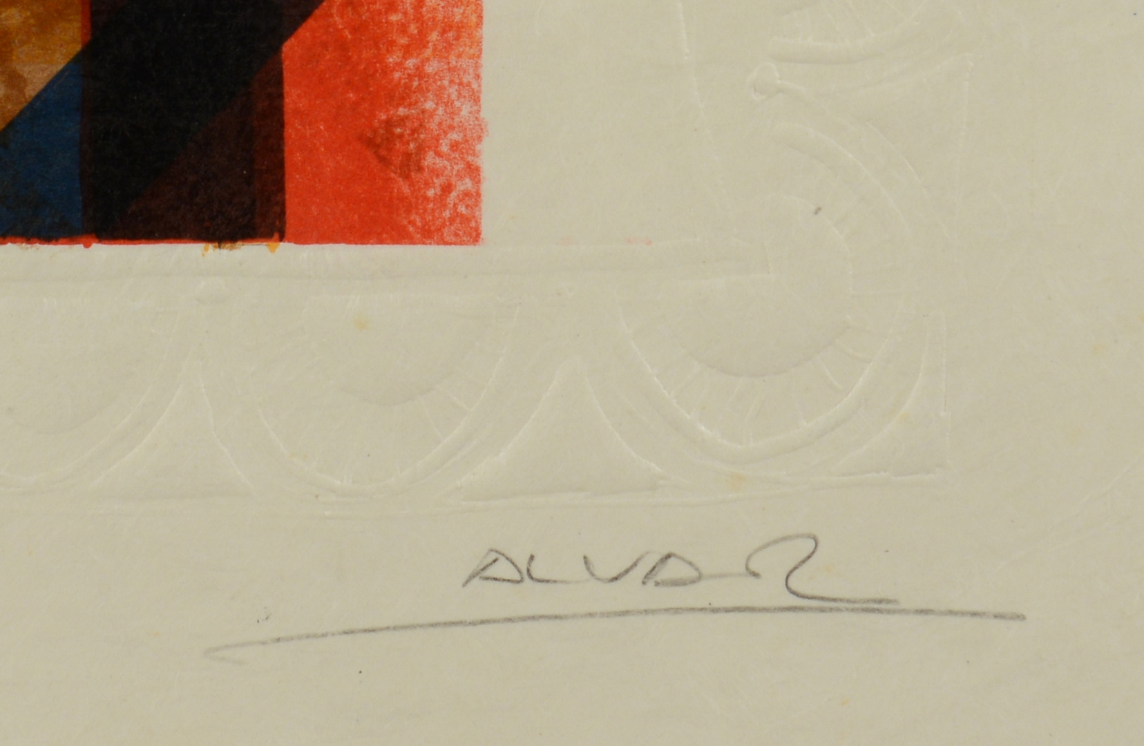Lot 3088240: Two Alvar Embossed Lithographs, Artist Proof