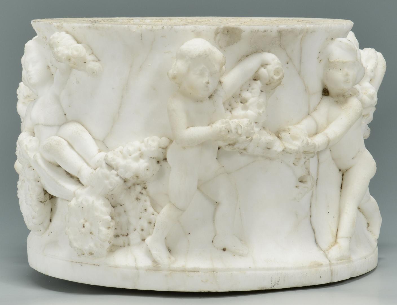 Lot 3088246: Marble Relief Carved Pedestal Fragment
