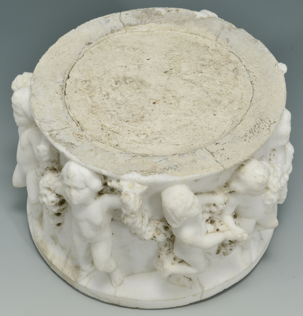 Lot 3088246: Marble Relief Carved Pedestal Fragment
