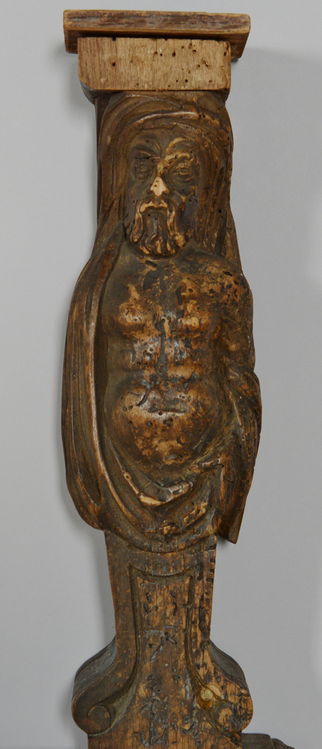 Lot 3088247: Baroque Style Carved Figural Shelf Support