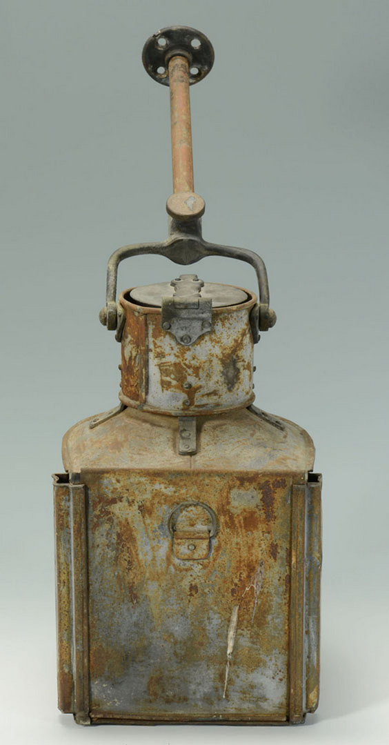 Lot 3088249: Carpenter Marine Steamboat Lantern & Other