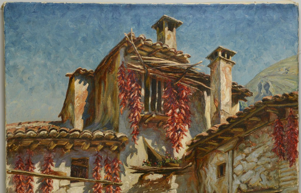 Lot 3088251: Paul Sollmann, Oil on Canvas, Spanish Courtyard