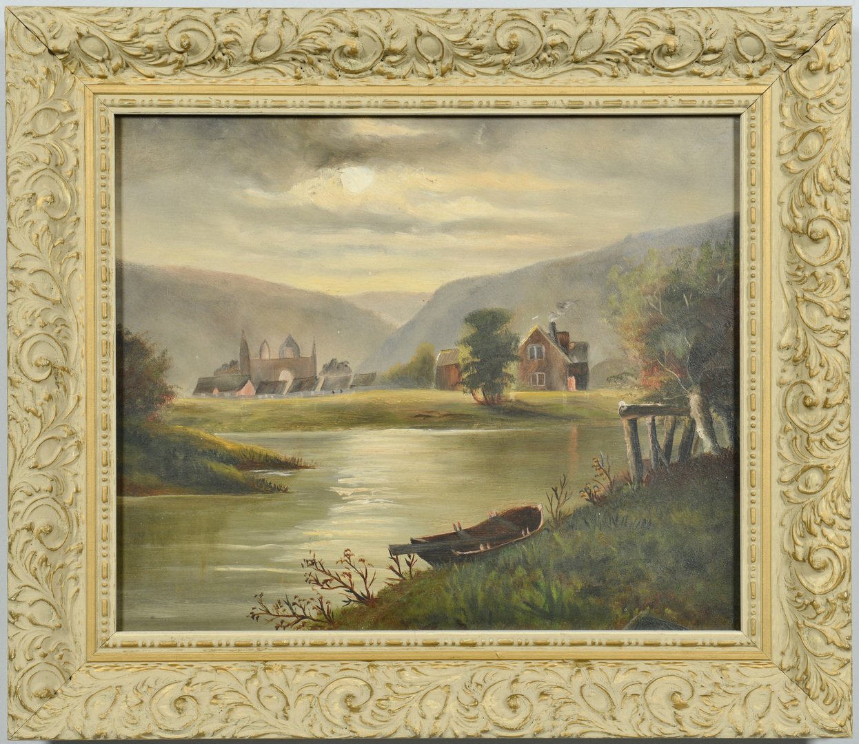Lot 3088253: Two 19th c. European Landscape Oils on Board