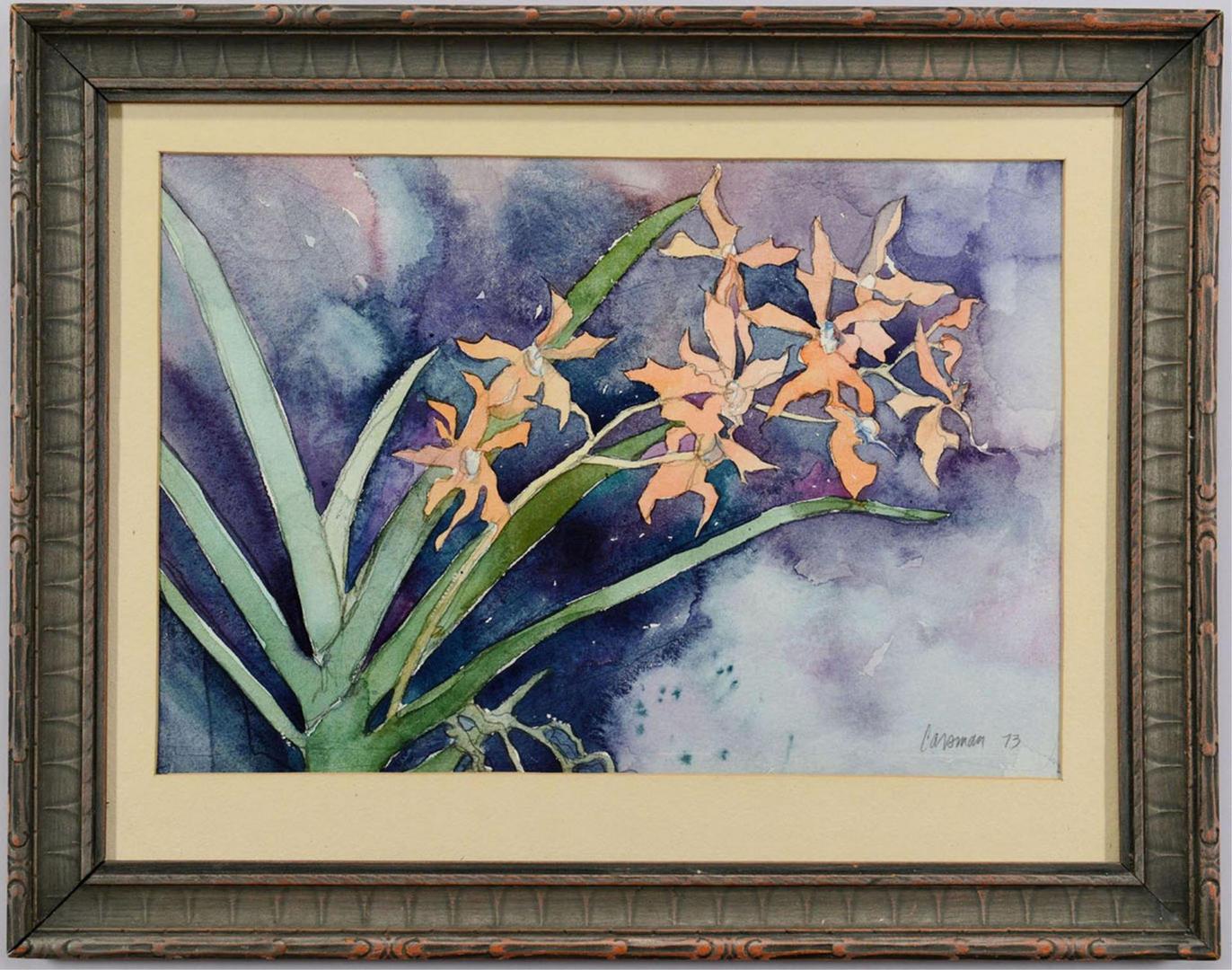 Lot 3088255: Attr. Jon Carsman, Floral Watercolor