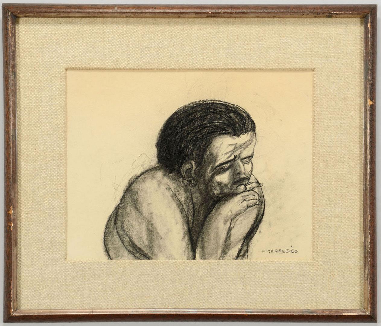 "Lot 3088256: James Kearns drawing, ""Woman"", 1960"