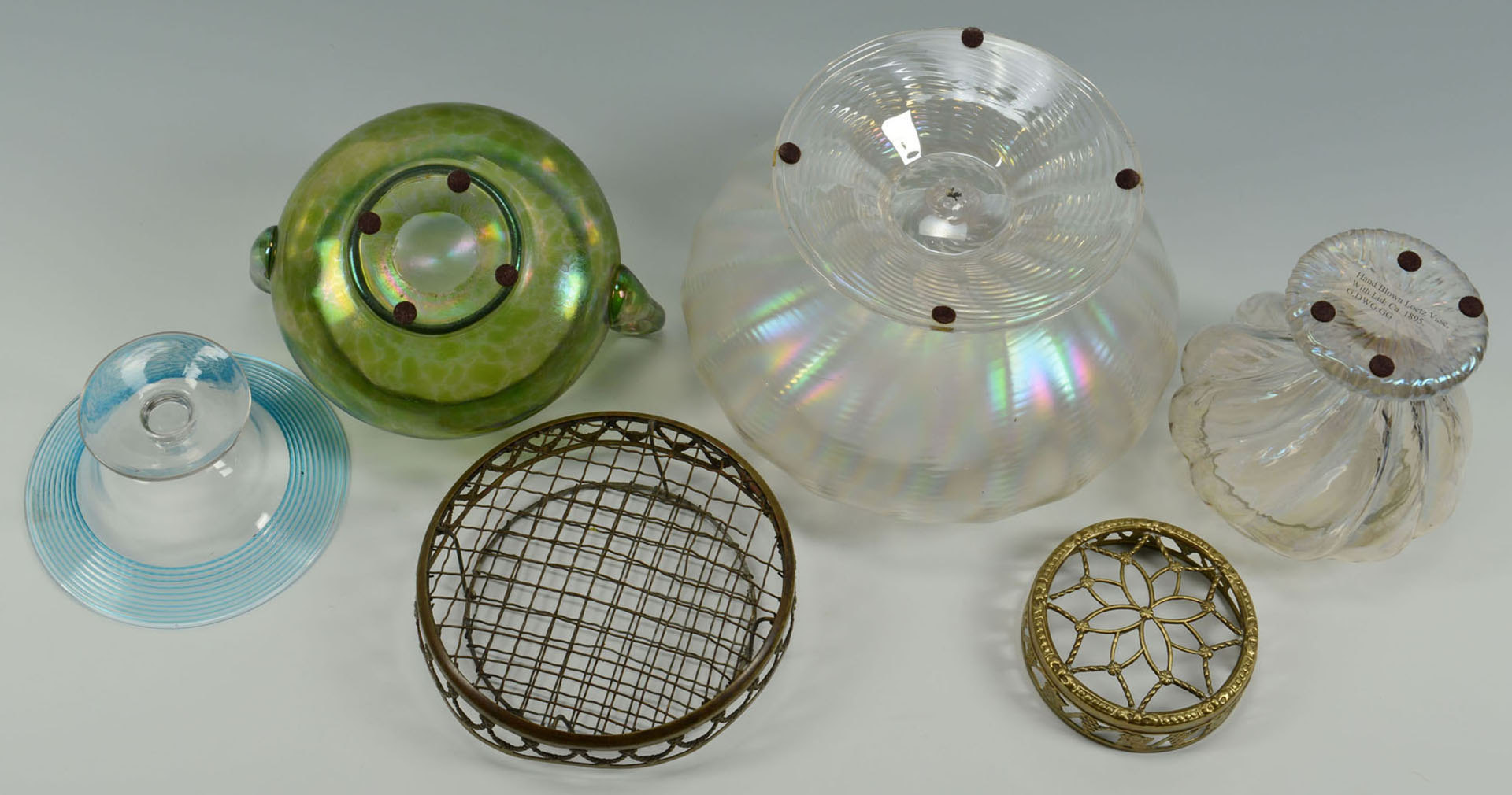 Lot 3088261: 4 Loetz Type Art Glass Items