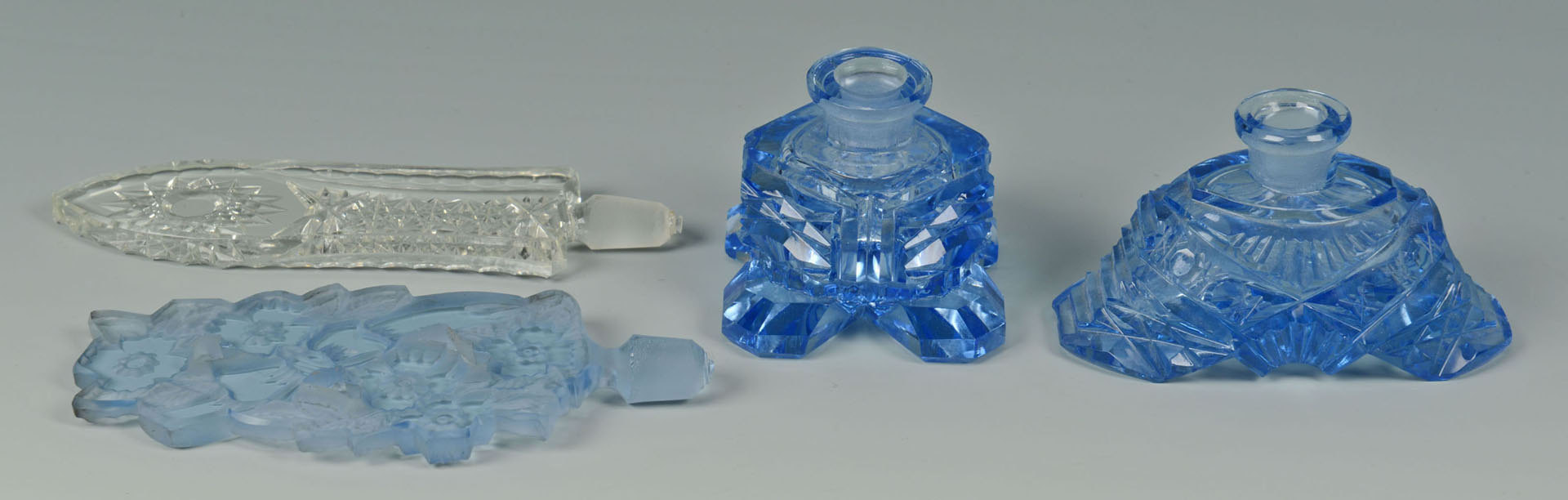 Lot 3088262: 2 Czechoslavakia Cut Crystal Perfume Bottles